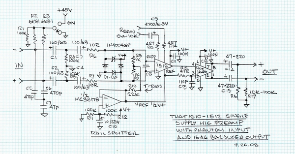 portable mic preamp project - page 1