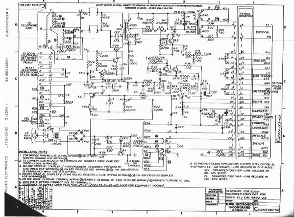 Elgin Electronics ERC Telephone Coupler Documentation Pro - Audio design document