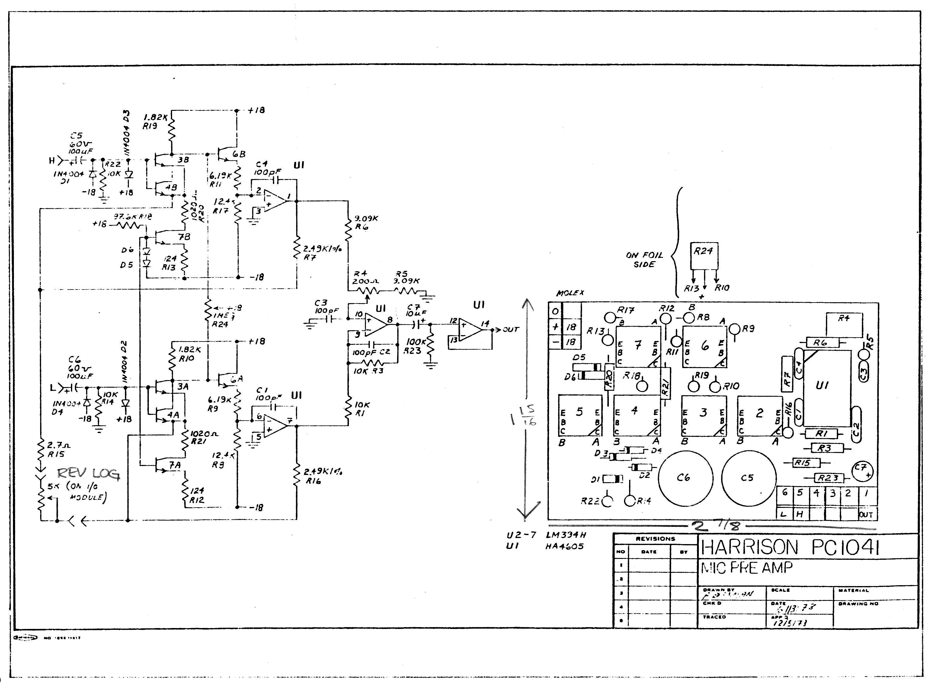 benchmark mic preamp from 1984