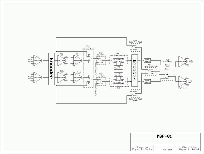 mid side m-s matrix uses no precision resistors