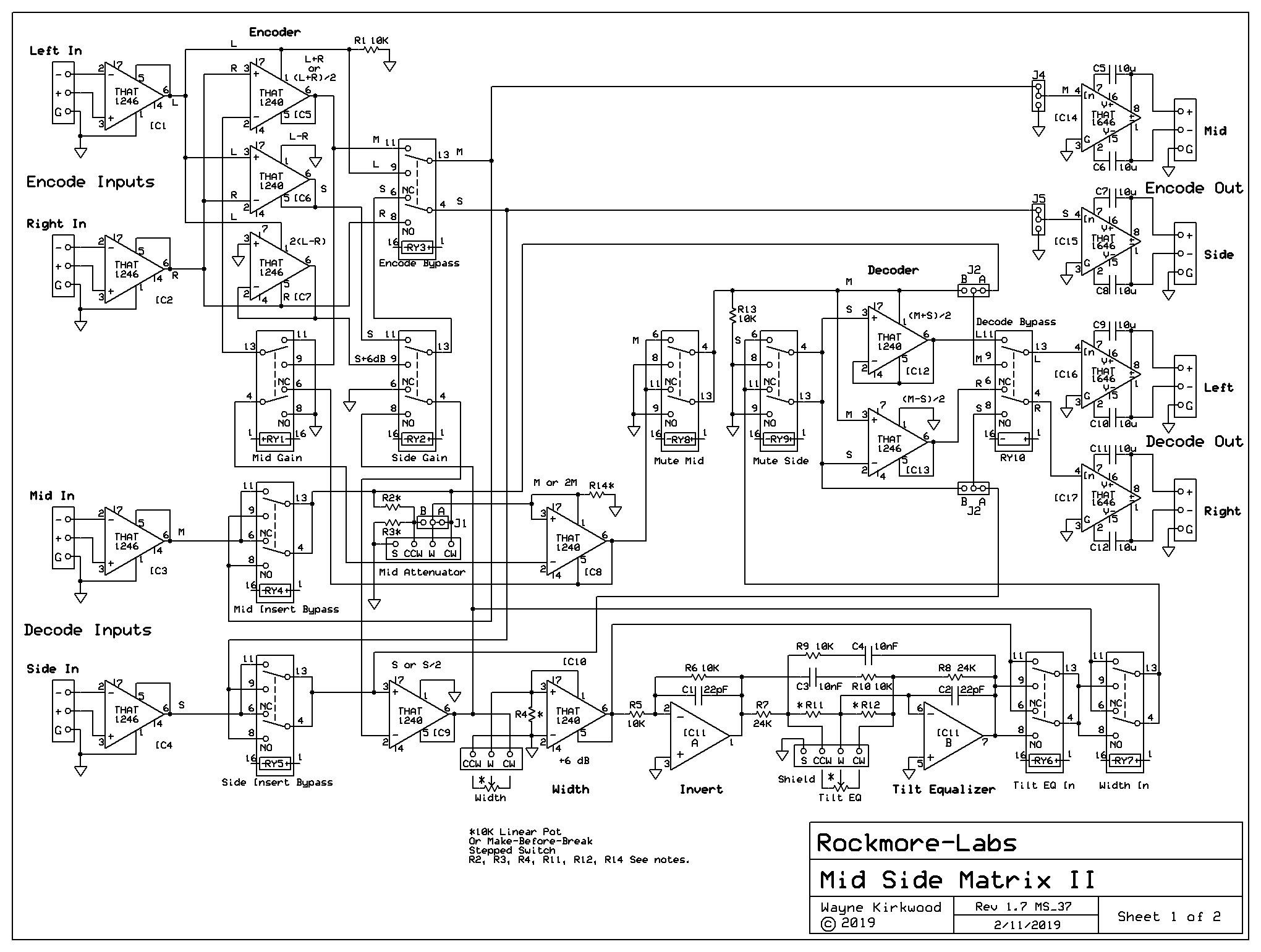 mtc-ms-ii mid side matrix construction information
